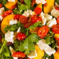 Arugula, Peach and Feta Salad