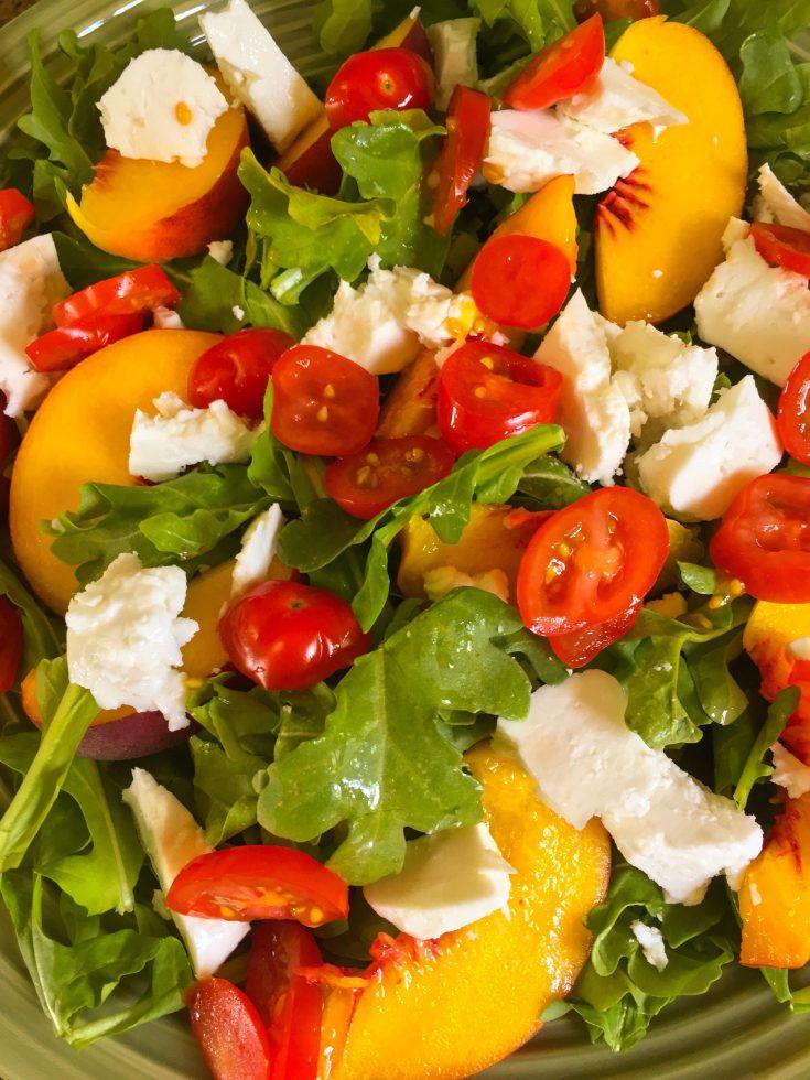 Arugula, Peach and Feta Salad