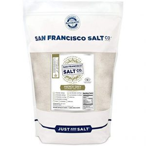 French Grey Sea Salt 2 lb. Bag Fine Grain, Sel Gris pure & natural sea salt from France