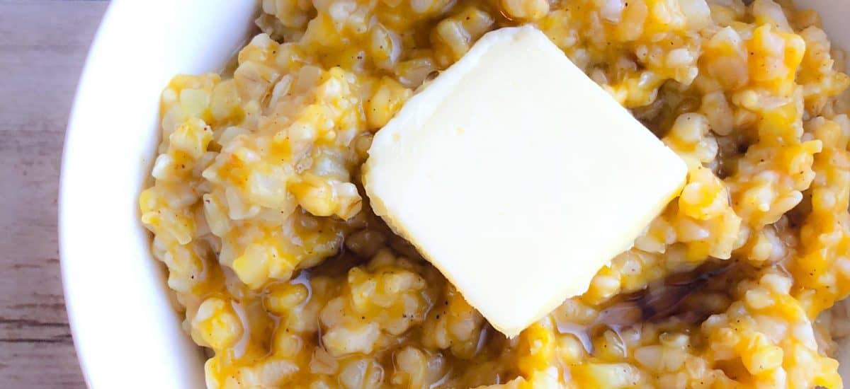 Pumpkin Cauliflower Oatmeal