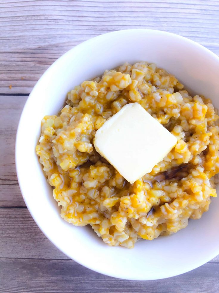 Pumpkin Cauliflower Oatmeal